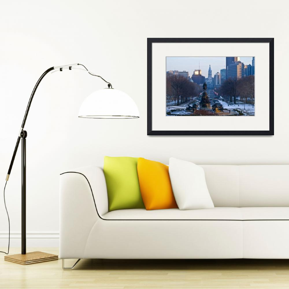 """""""Art Museum View of Philadelphia&quot  (2009) by Jaa999Pa"""