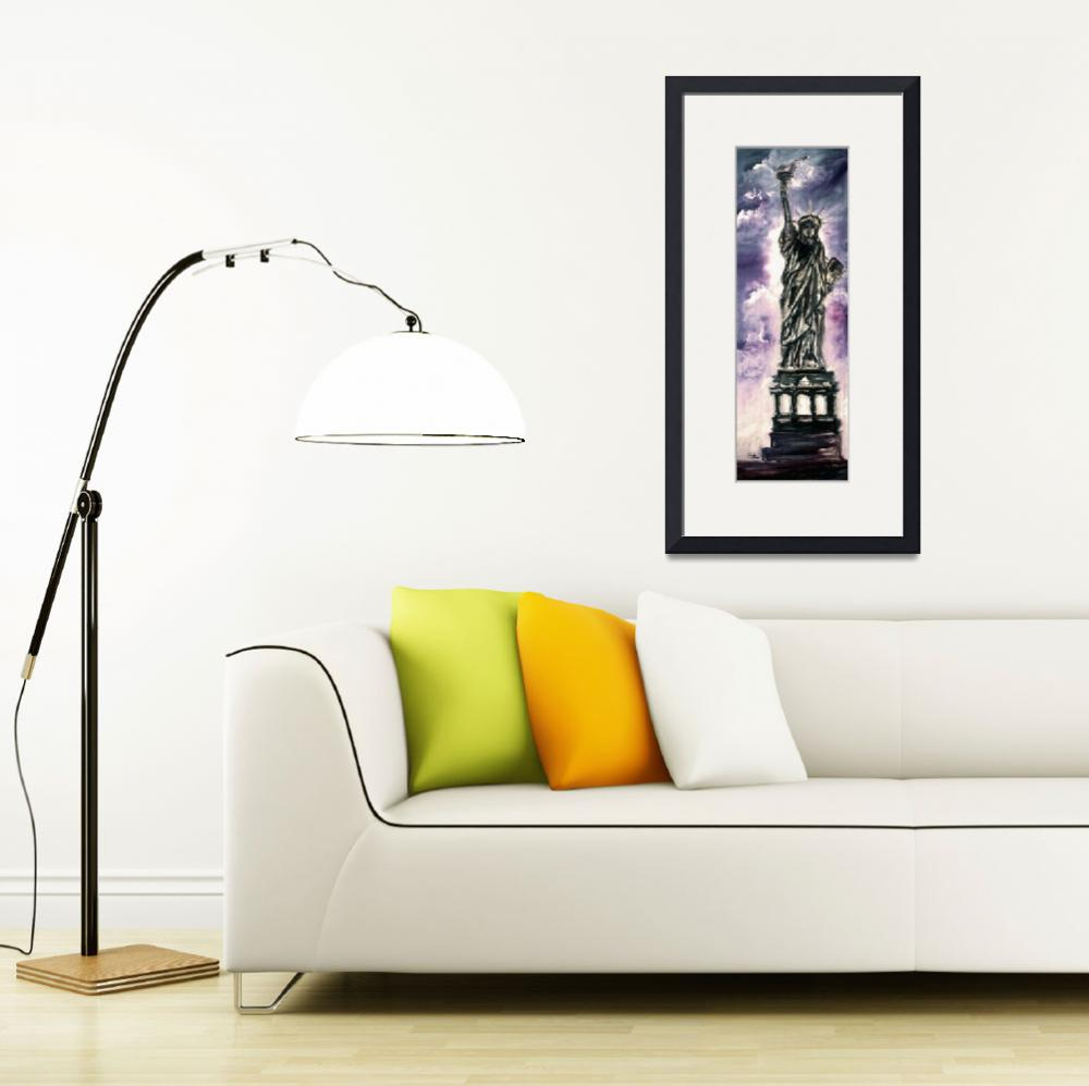 """Statue of Liberty New York Landmark""  (2014) by GinetteCallaway"