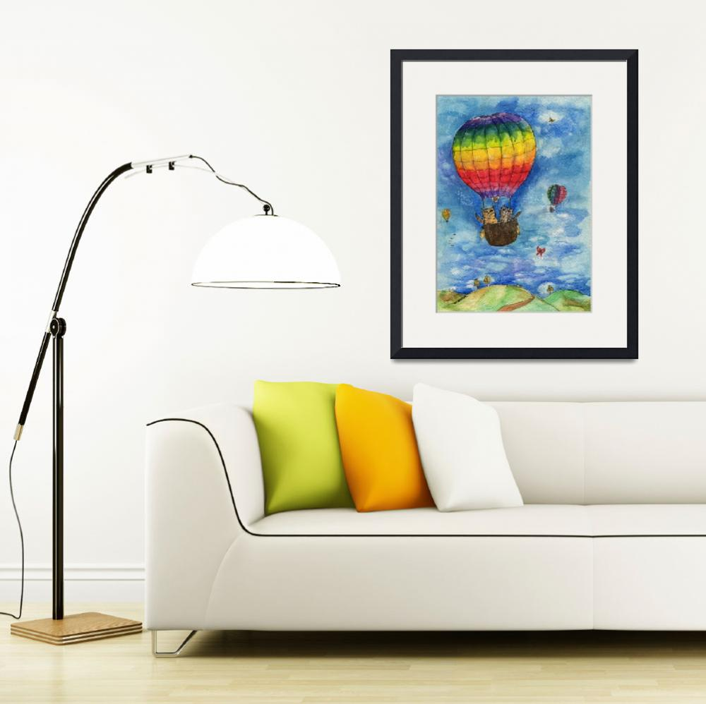 """""""up up and away in a lovely rainbow balloon&quot  (2015) by tarantella"""