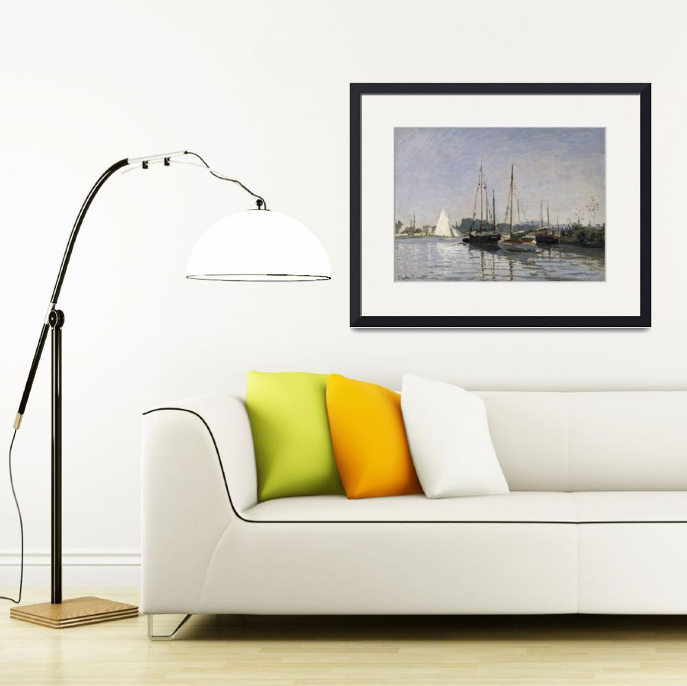 """""""Pleasure Boats, Argenteuil, c.1872 3&quot  by fineartmasters"""