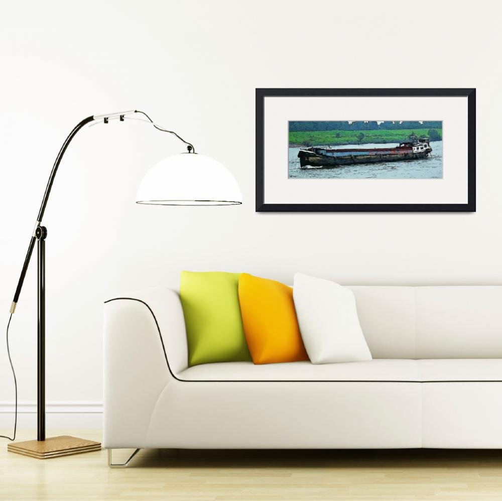 """Barge on the Rhine8&quot  (2009) by billbarber"