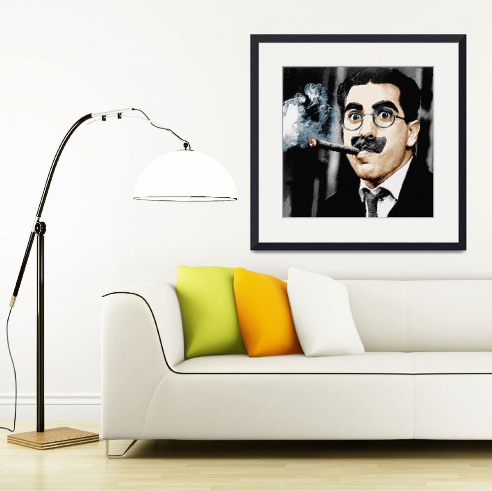 """""""Groucho Marx Square&quot  by RubinoFineArt"""