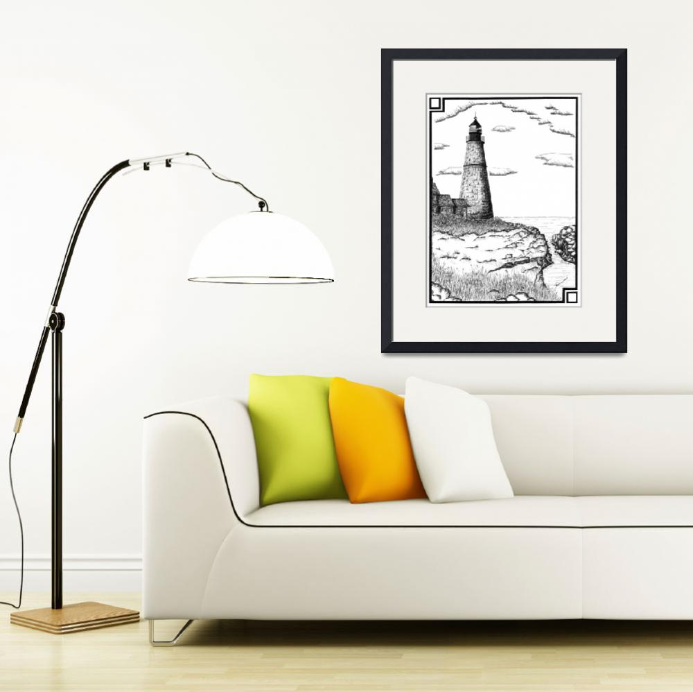 """""""Simple Lighthouse&quot  (2001) by RoughSketching"""
