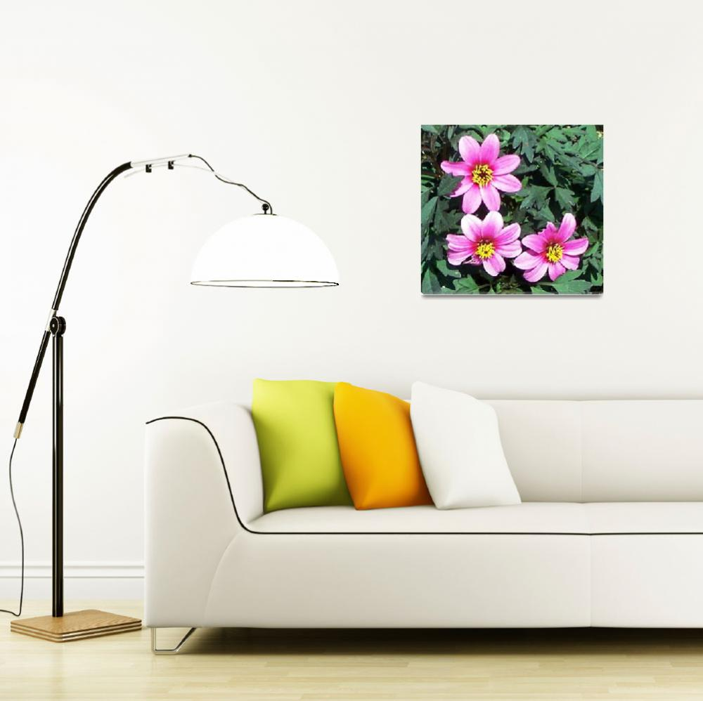 """""""3 pink Flowers""""  (2001) by anichols111"""