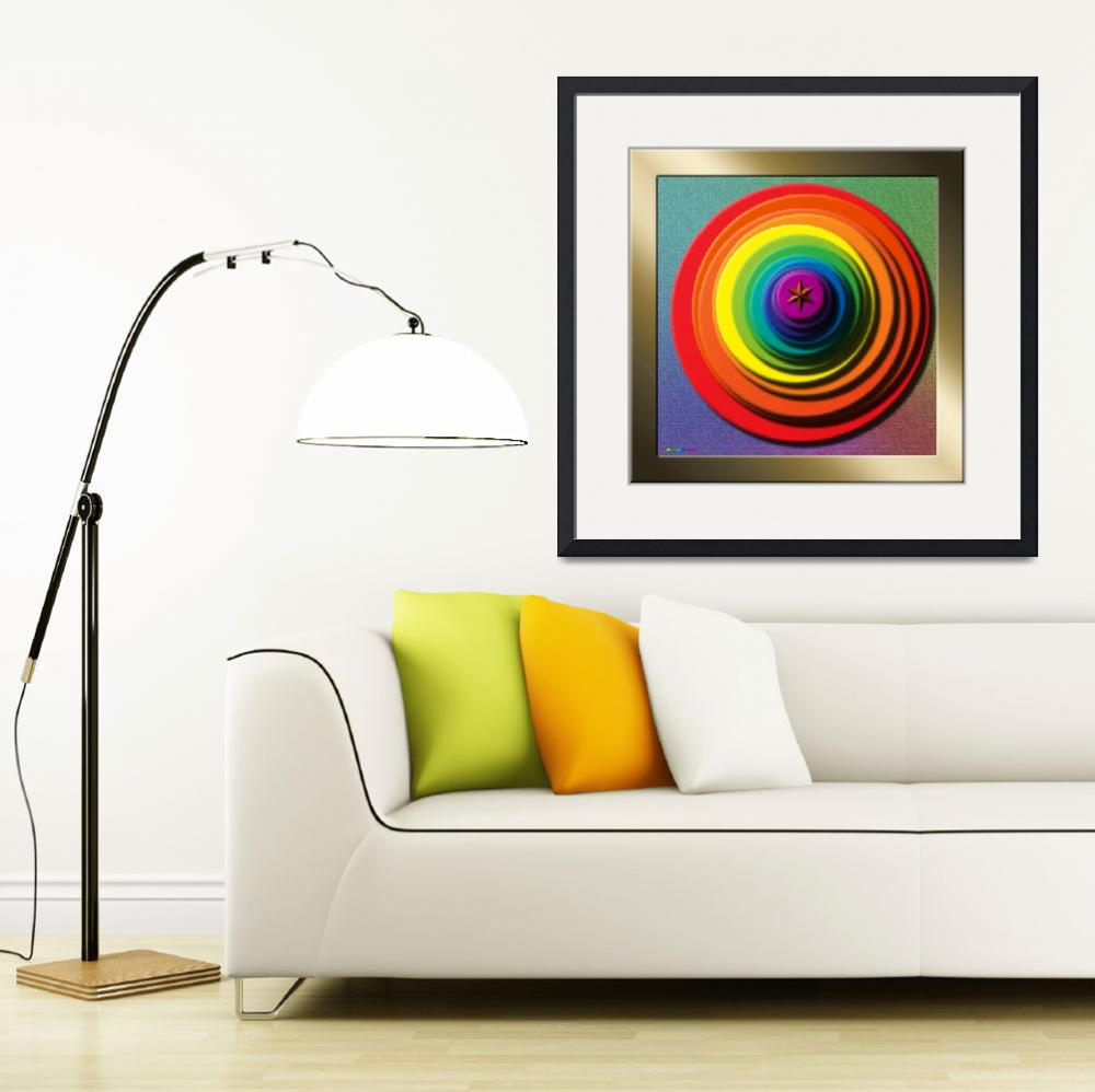 """""""20110321-Color-Stack-Bullseye&quot  (2011) by quasihedron"""