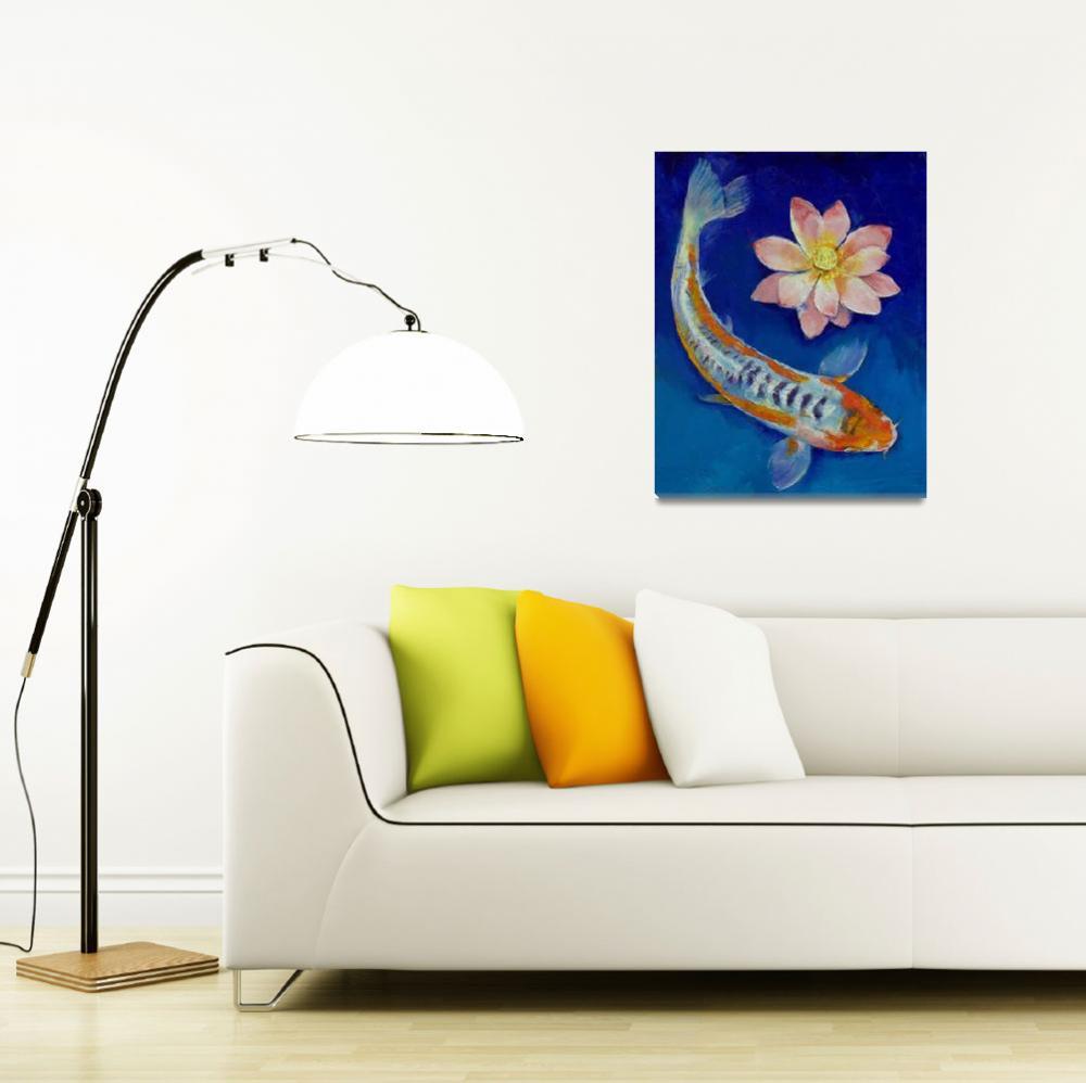"""Koi Fish and Lotus""  by creese"