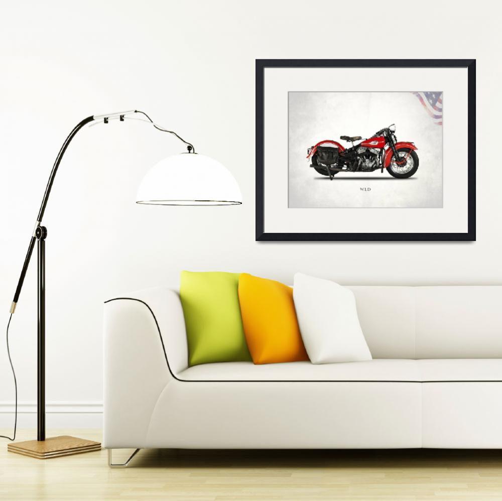 """Harley-Davidson_WLD_1941&quot  (2015) by mark-rogan"