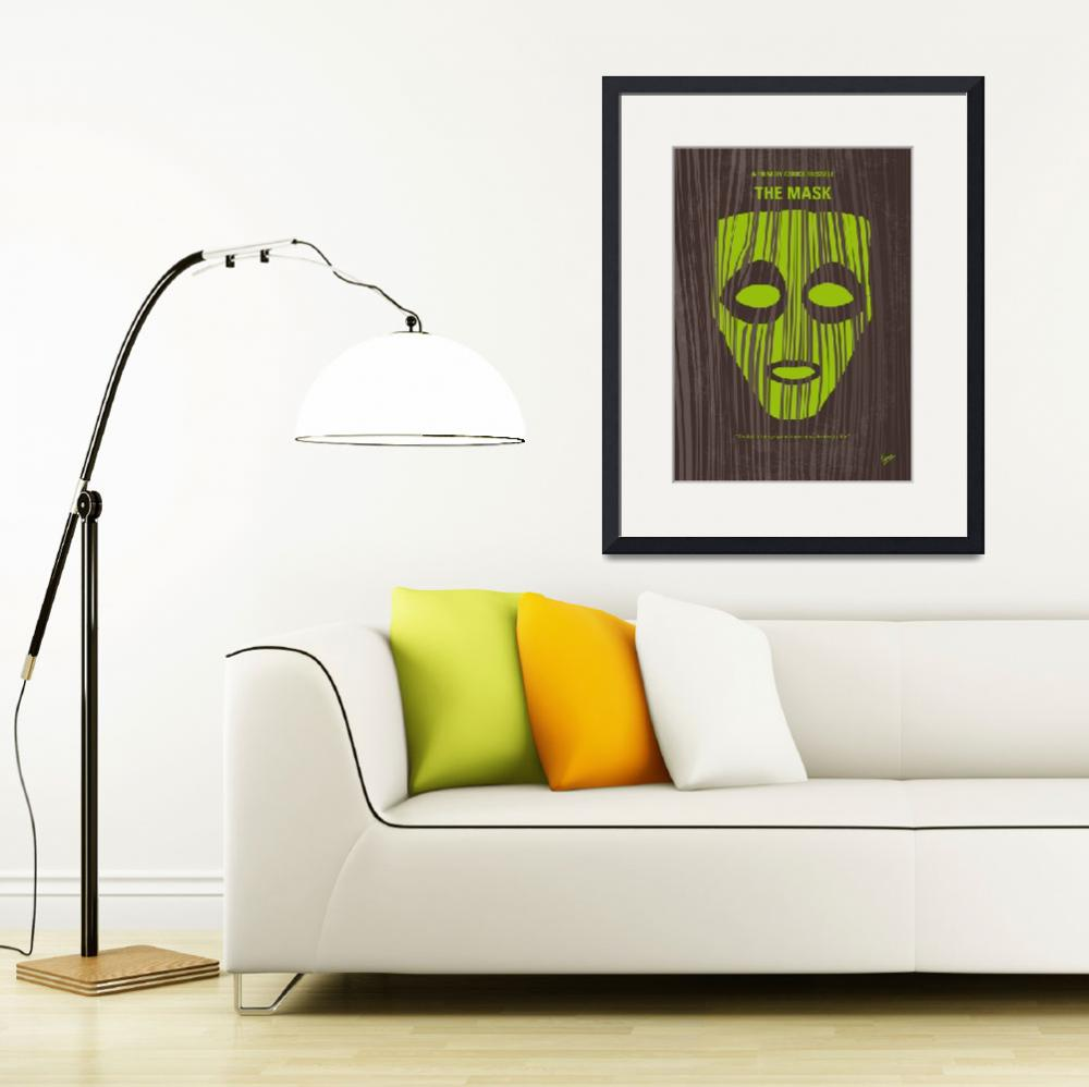 """""""No647 My The Mask minimal movie poster&quot  by Chungkong"""
