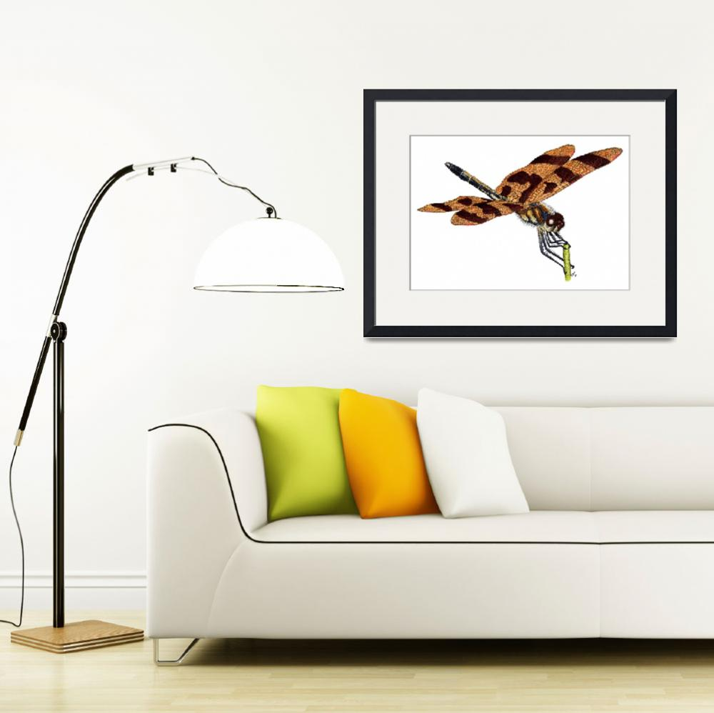 """Halloween Pennant Dragonfly""  by inkart"