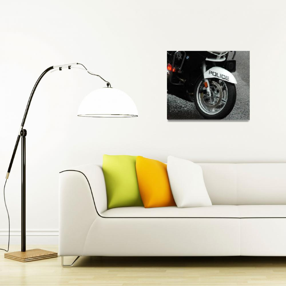 """Police Motorcycle Tire&quot  (2011) by netbrands"