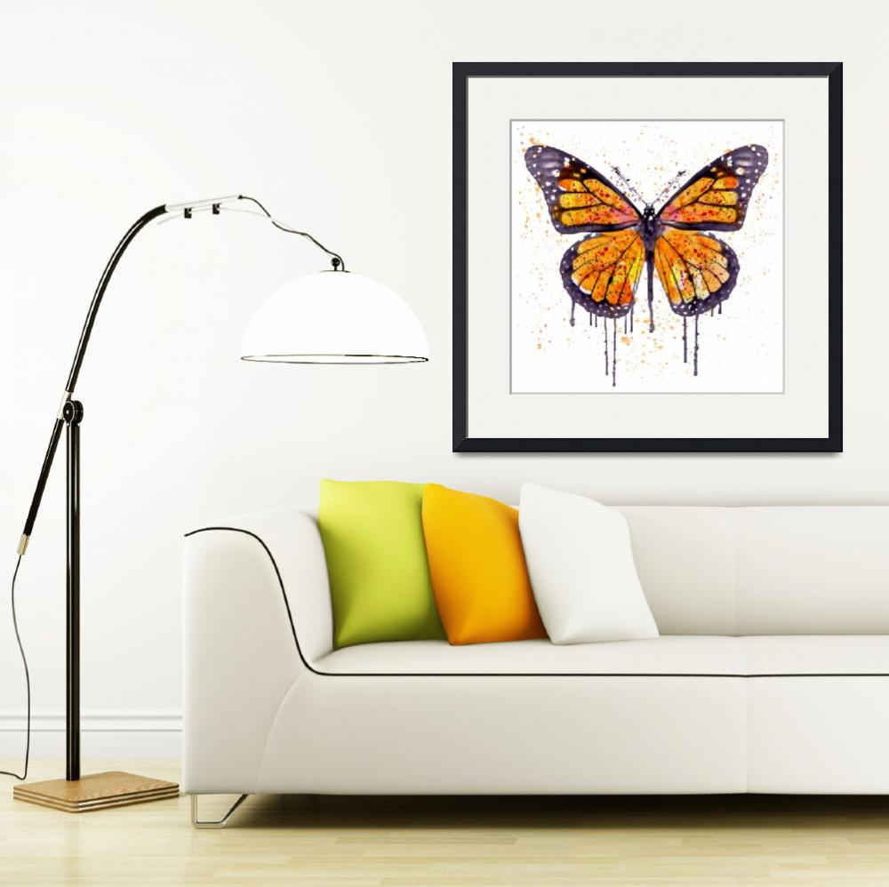 """Monarch Butterfly Watercolor&quot  (2015) by MarianVoicu"