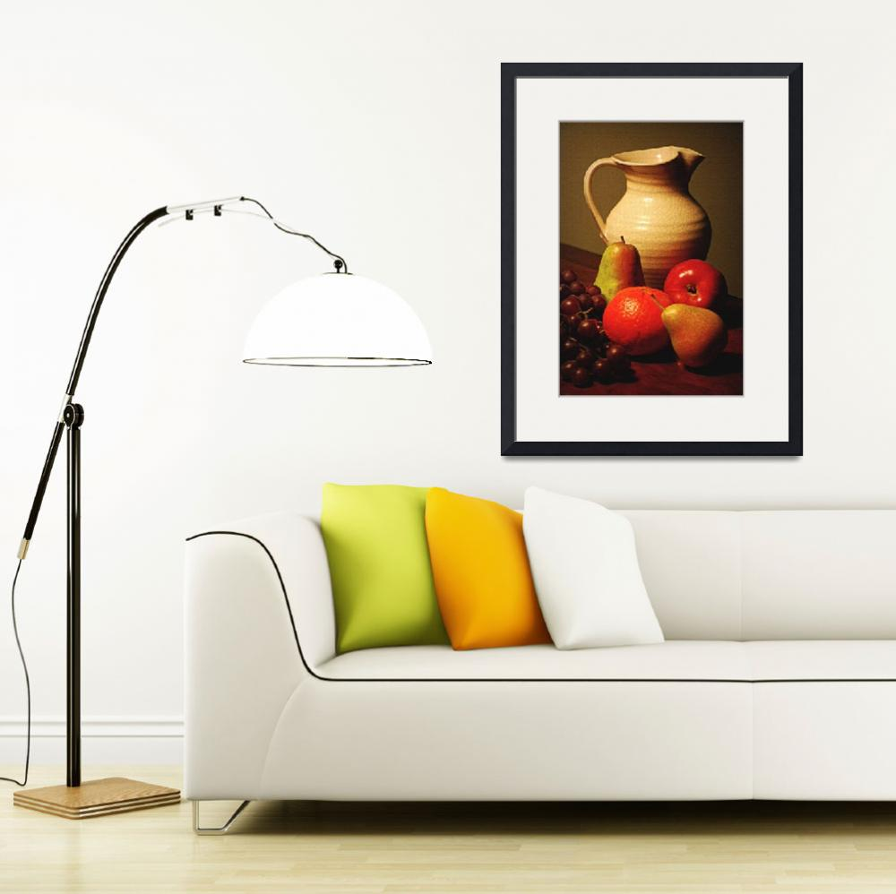 """Pitcher and Fruit&quot  (2008) by DianaLeePhotoDesigns"