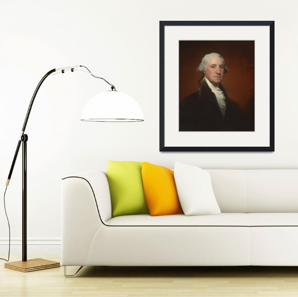 """George Washington by Gilbert Stuart&quot  by BSharp"