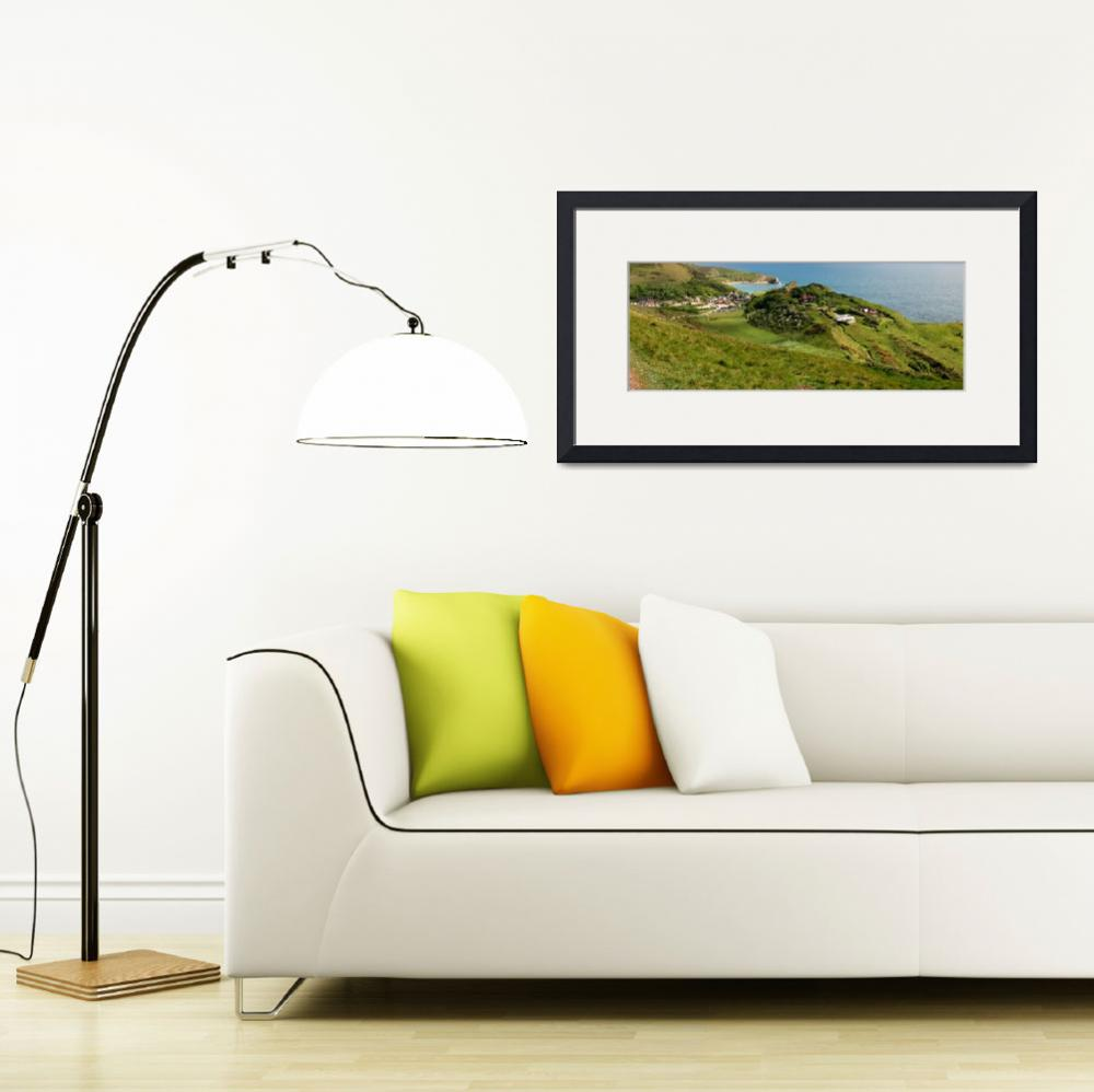 """Lulworth Cove, Dorset""  (2012) by pamelamcnamara"