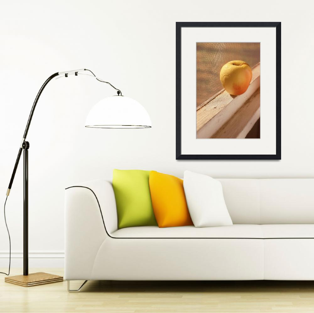 """Yellow Apple on Window Ledge&quot  by w3imagery"