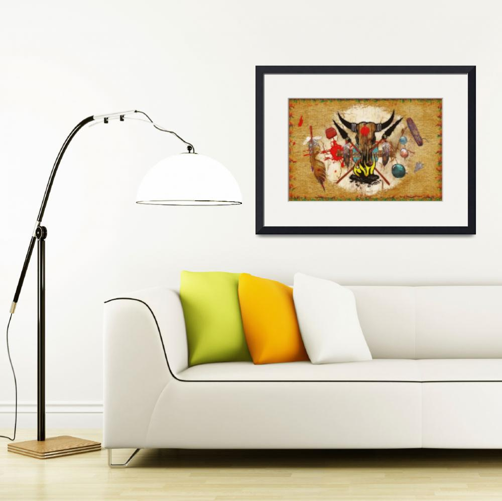 """""""The Promise Native American Tribal Art&quot  (2012) by ReneeLozenGraphics"""