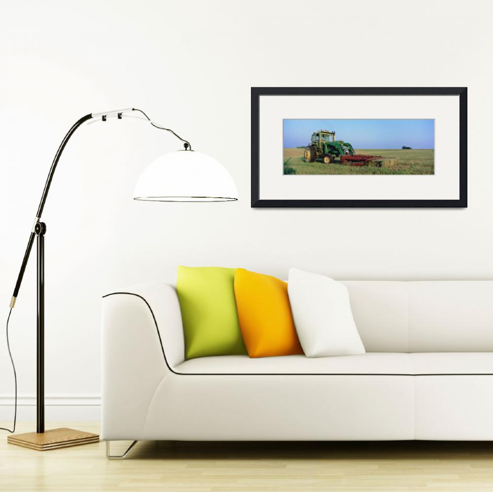 """""""Tractor in a hay field&quot  by Panoramic_Images"""