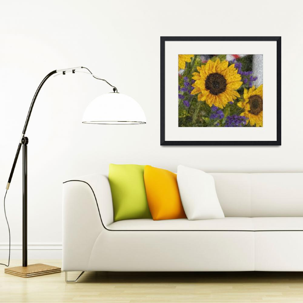 """Sunflowers&quot  (2010) by Artkeptsimple"