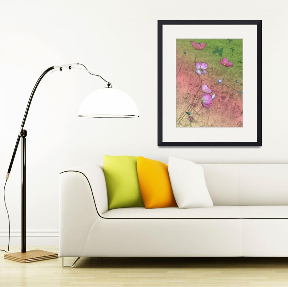 """""""Poppies and butterfly""""  by Minouche"""