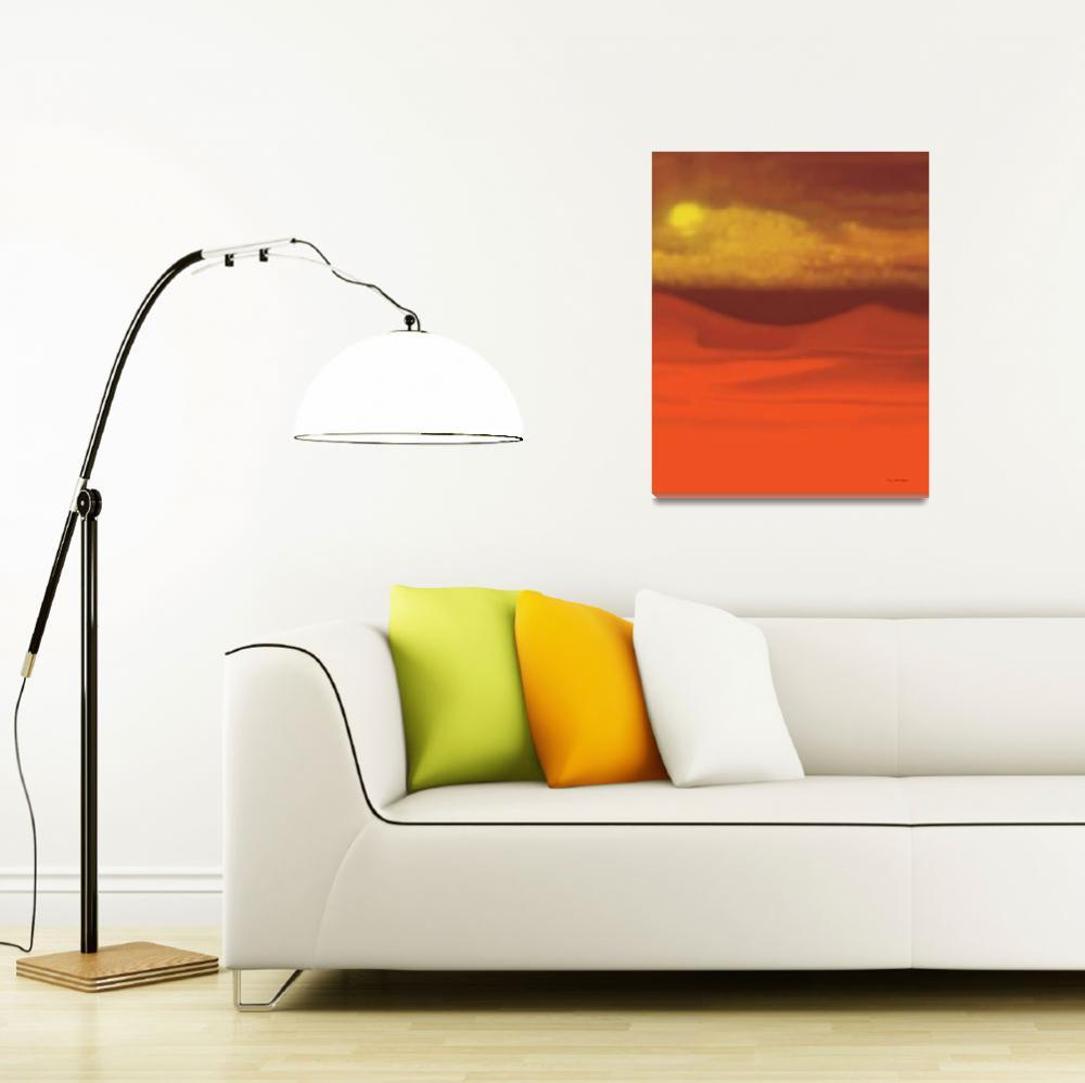 """""""Desert Sunset&quot  (2007) by TimStringer"""