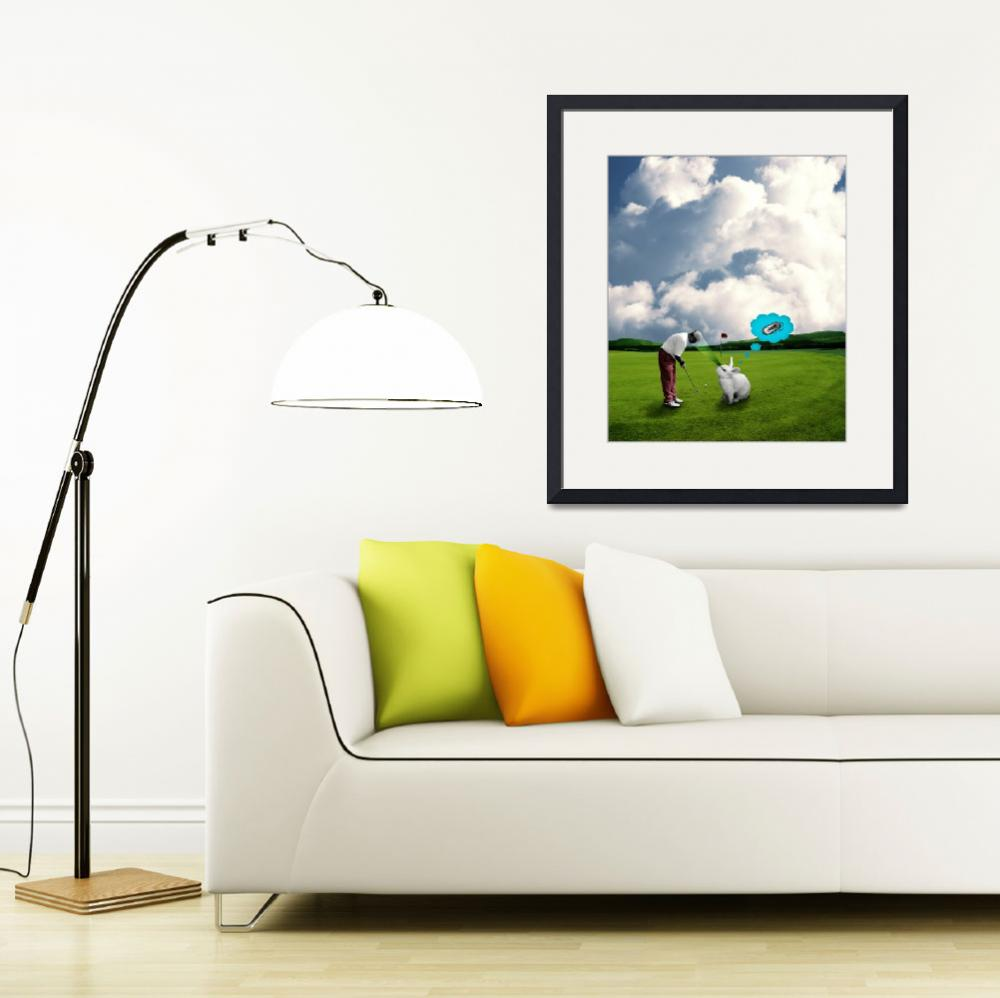 """""""Rabbits can not concentrate on golf&quot  (2010) by TamasOlejnik"""