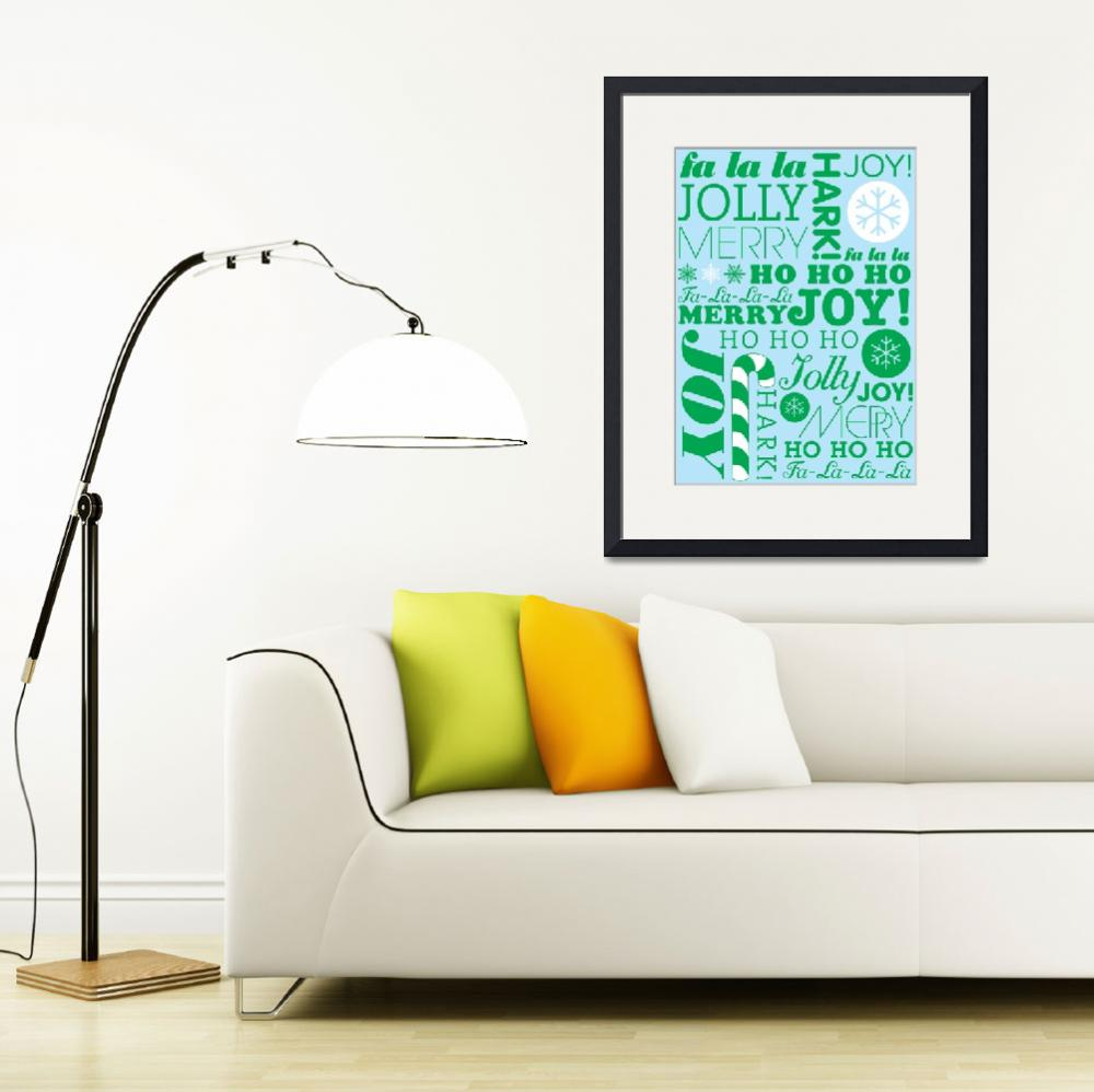 """""""falala holiday card typeography christmast tree an&quot  by dancacioppo"""