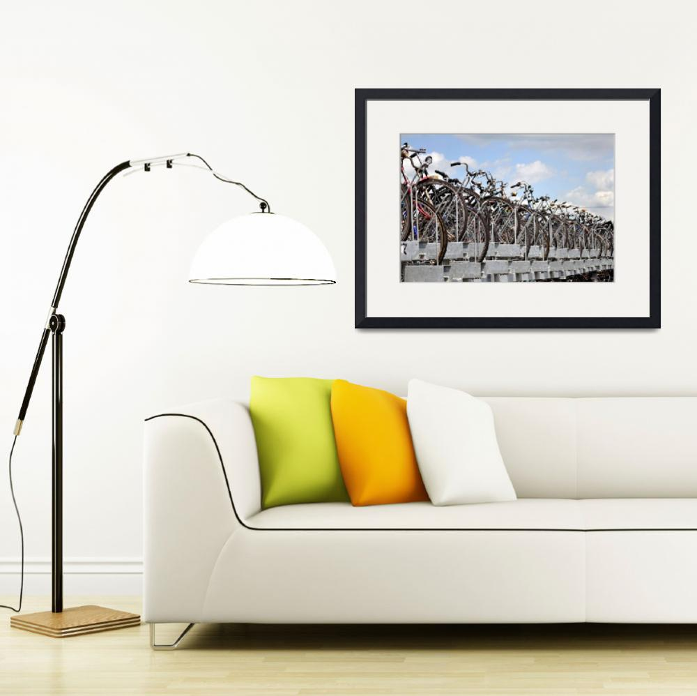 """""""Bicycle parking in Amsterdam.&quot  (2010) by FernandoBarozza"""