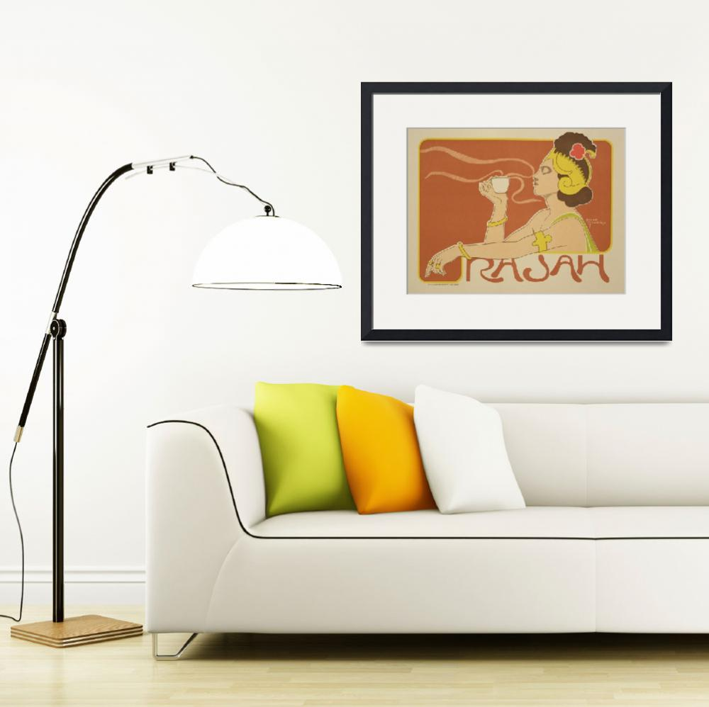 """""""Cafe Rajah Vintage Poster Advertisement&quot  by fineartmasters"""