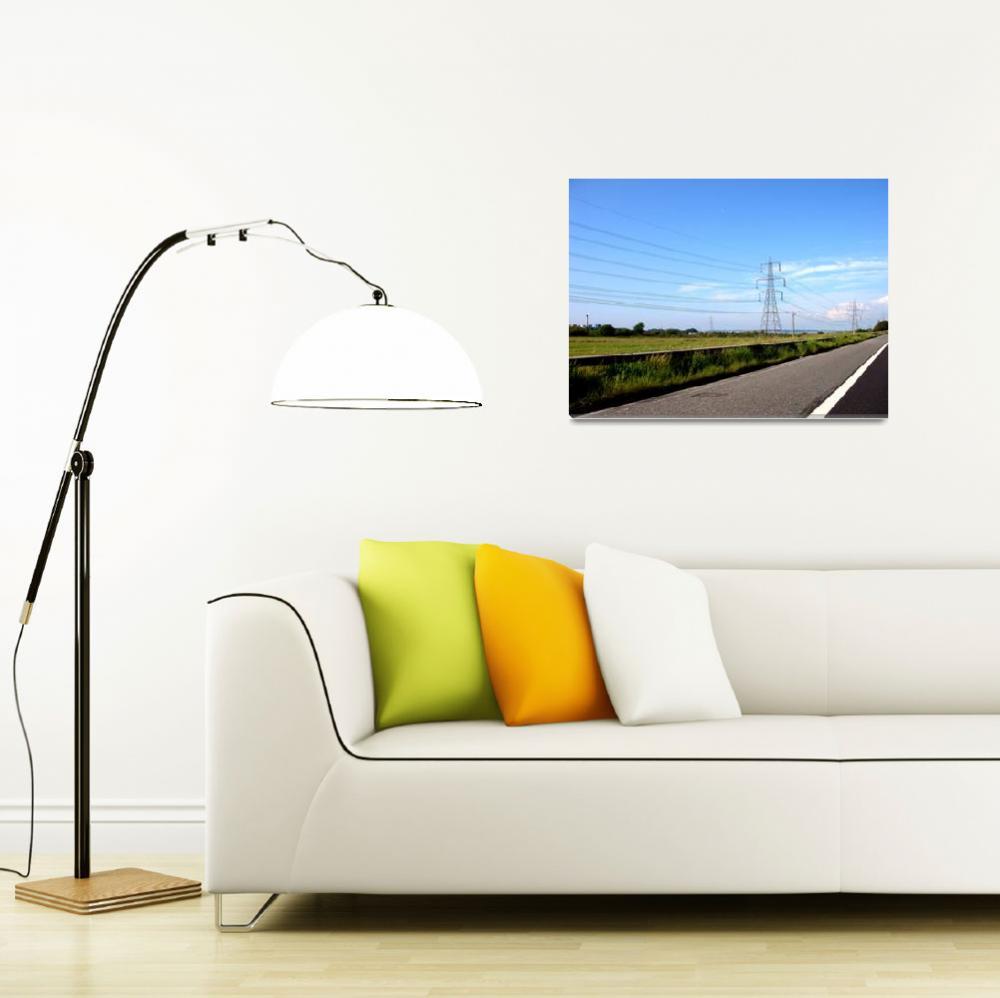 """Motorway pylons&quot  by thejiggerypokery"