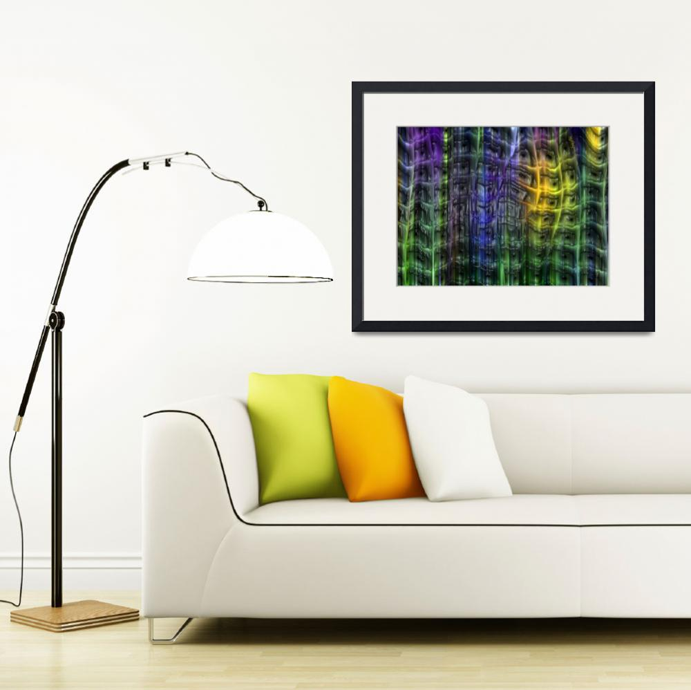 """""""Multi-colored Plastic Trellis&quot  by AngelsCreativeWorks"""