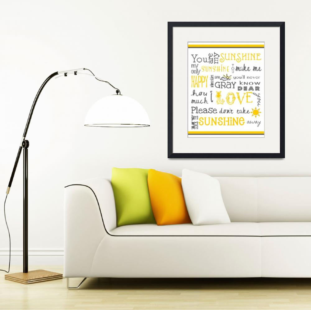 """""""You Are My Sunshine&quot  (2011) by FriedmanGallery"""