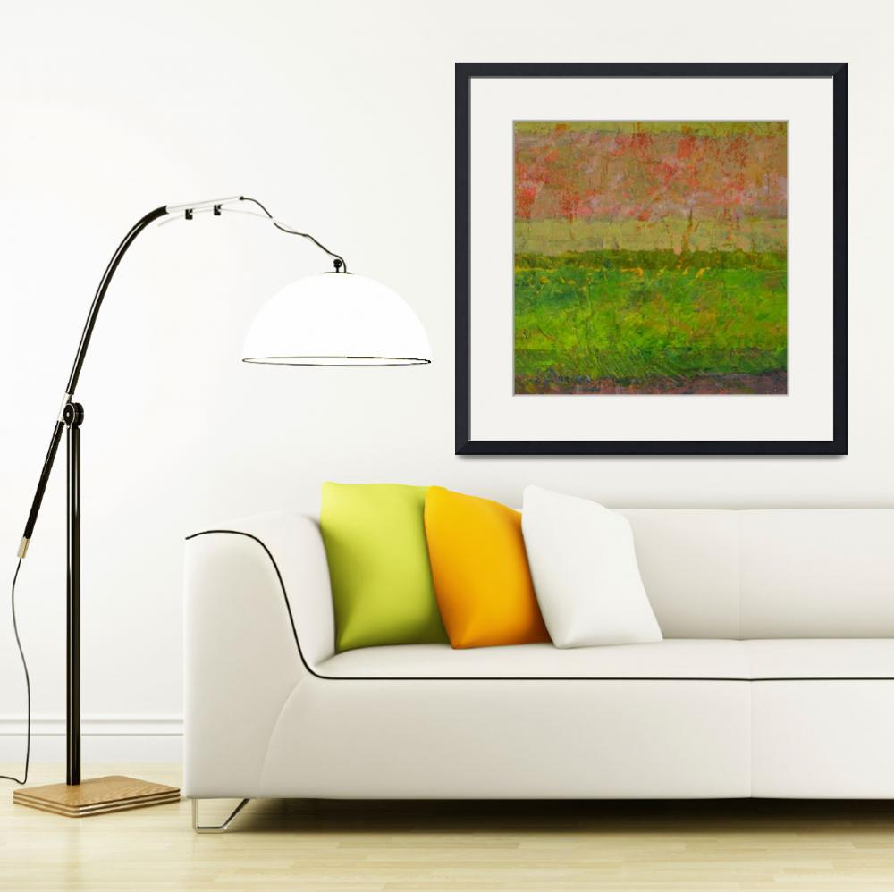 """""""Abstract Landscape Series - Summer Fields&quot  (2015) by Michelle1991"""