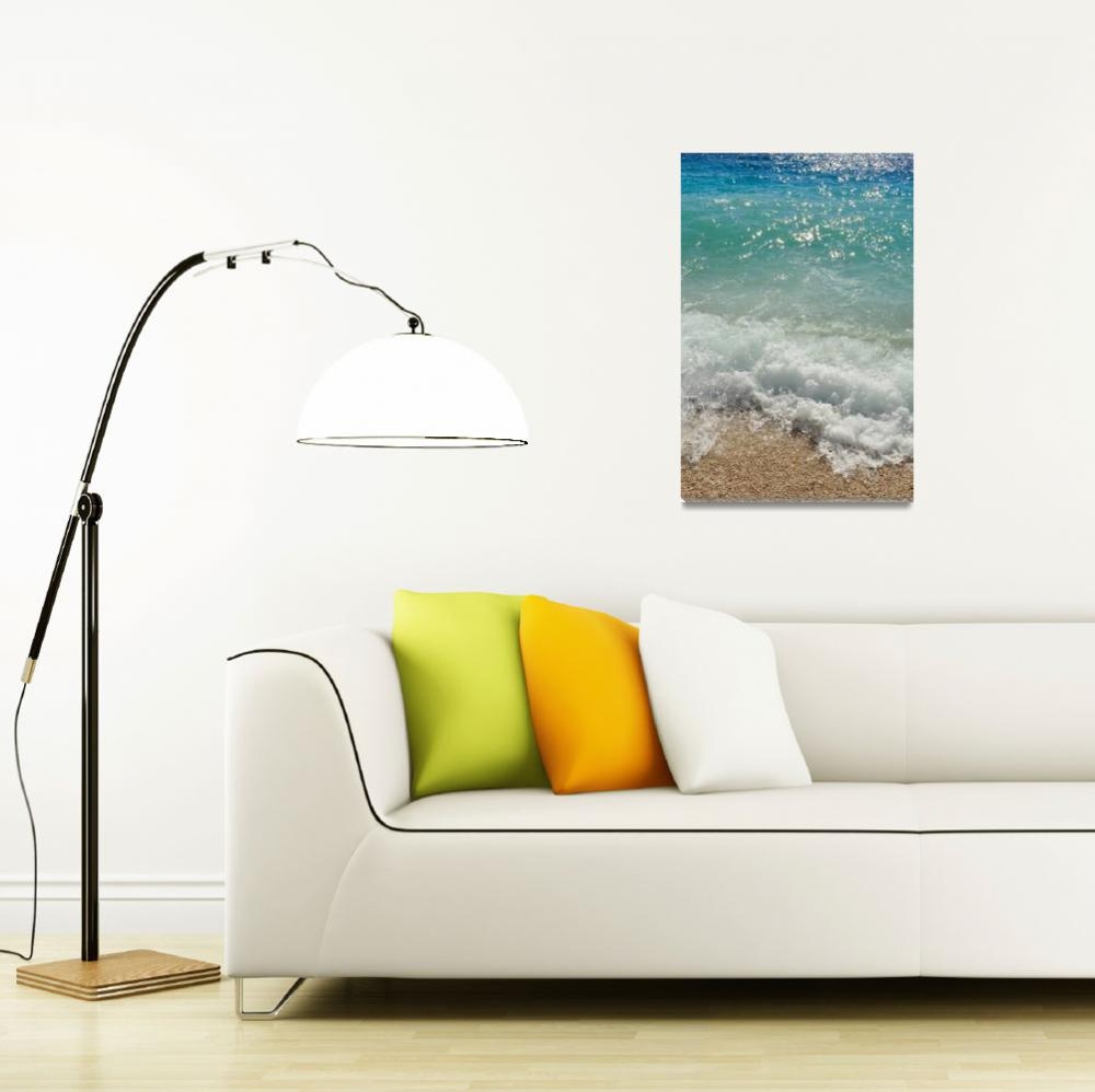 """""""Waves on the beach. Podgora, Croatia&quot  (2012) by creative_photography"""