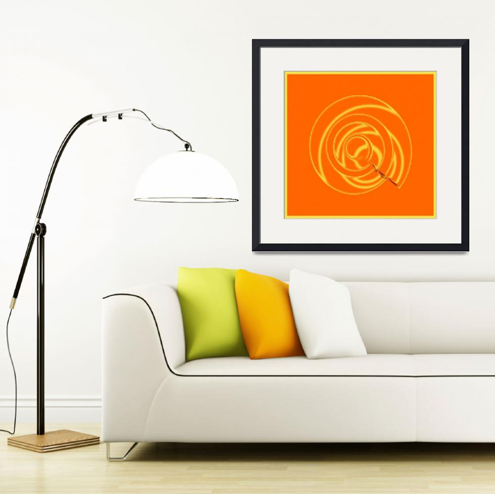"""Orange Metal Swirl""  (2015) by TrudyClementine"