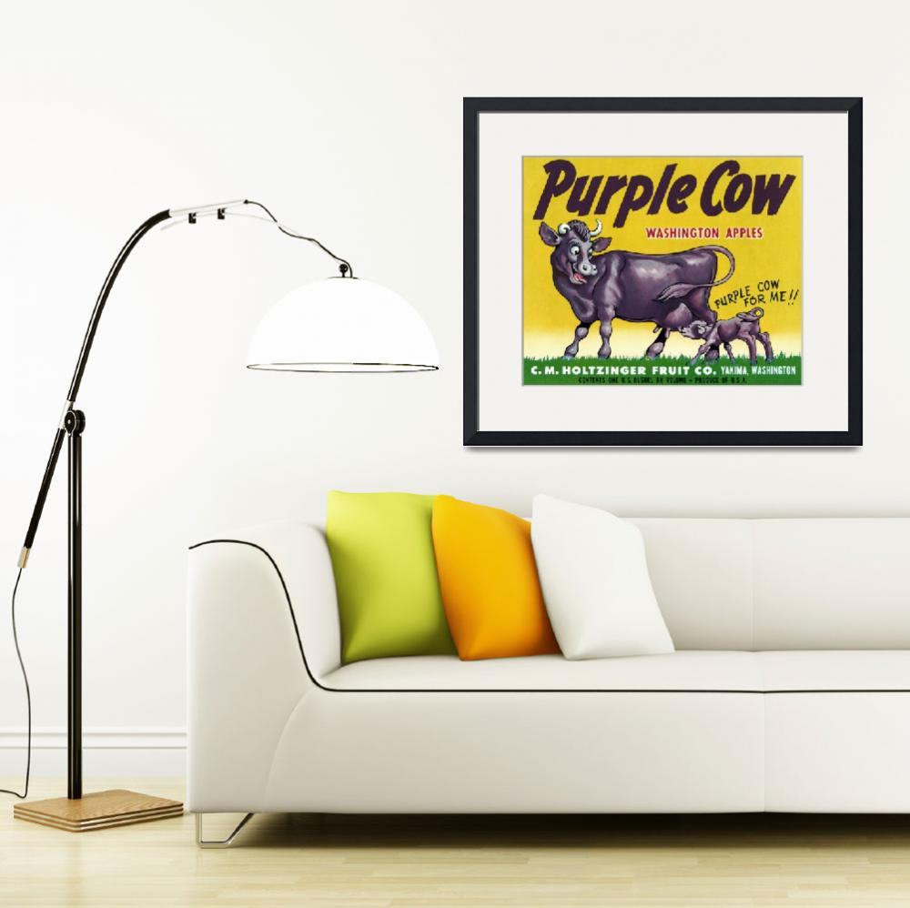 """Purple Cow""  (2010) by dalidayna"