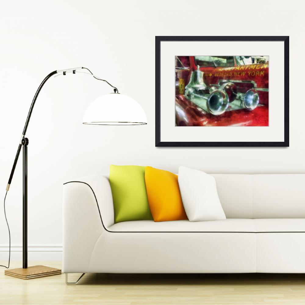"""""""Fire Engine Horns and Bell&quot  by susansartgallery"""