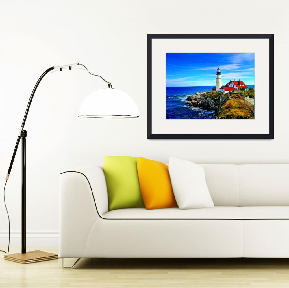 """Portland Head Light in Maine&quot  by New-Yorkled"