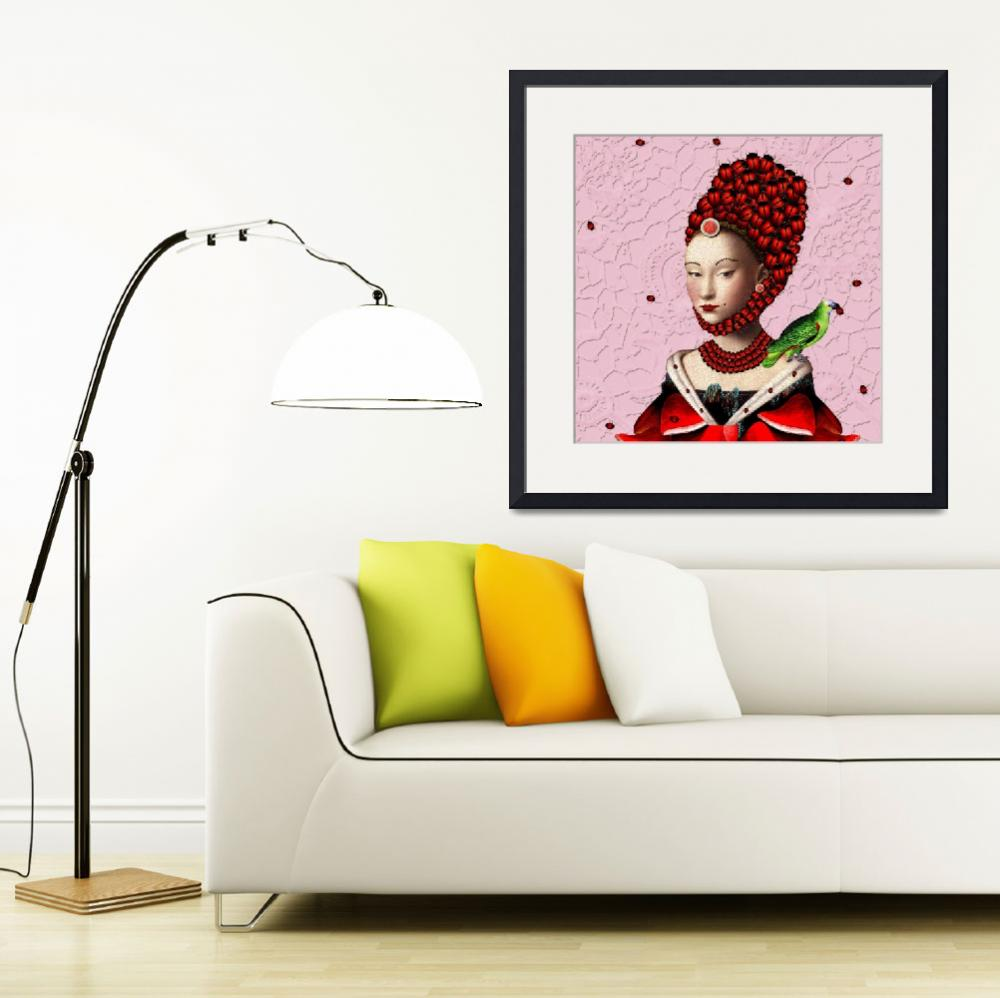 """La mademoiselle en rouge""  (2010) by pineappleart"