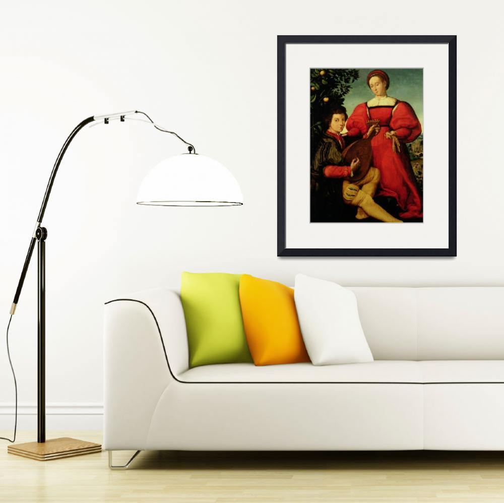 """""""Venetian Lady and Lute Player&quot  by fineartmasters"""