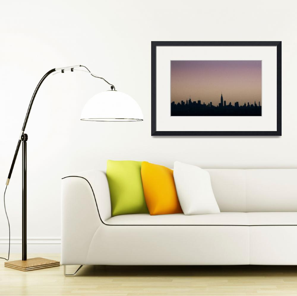 """""""New York Skyline&quot  by Noamg"""