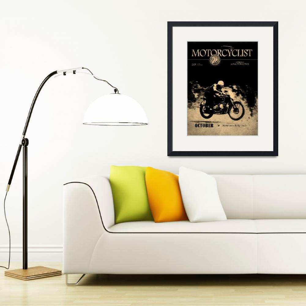 """""""Motorcycle Magazine BMW Racing Team 1952&quot  (2013) by mark-rogan"""