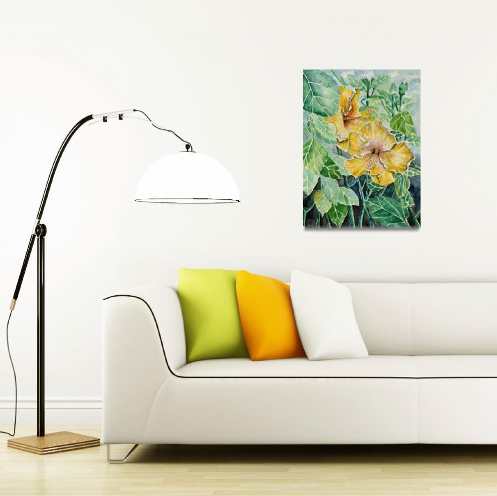 """hibiscus flowers art print&quot  (2013) by derekmccrea"