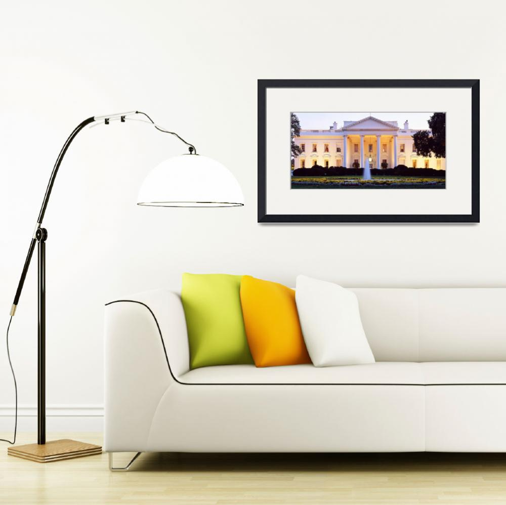 """""""Washington DC, White House at twilight&quot  by Panoramic_Images"""