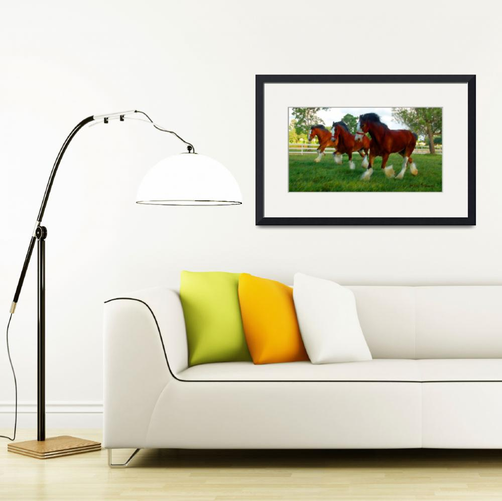"""""""Clydesdale trio&quot  (2010) by nicoindo"""