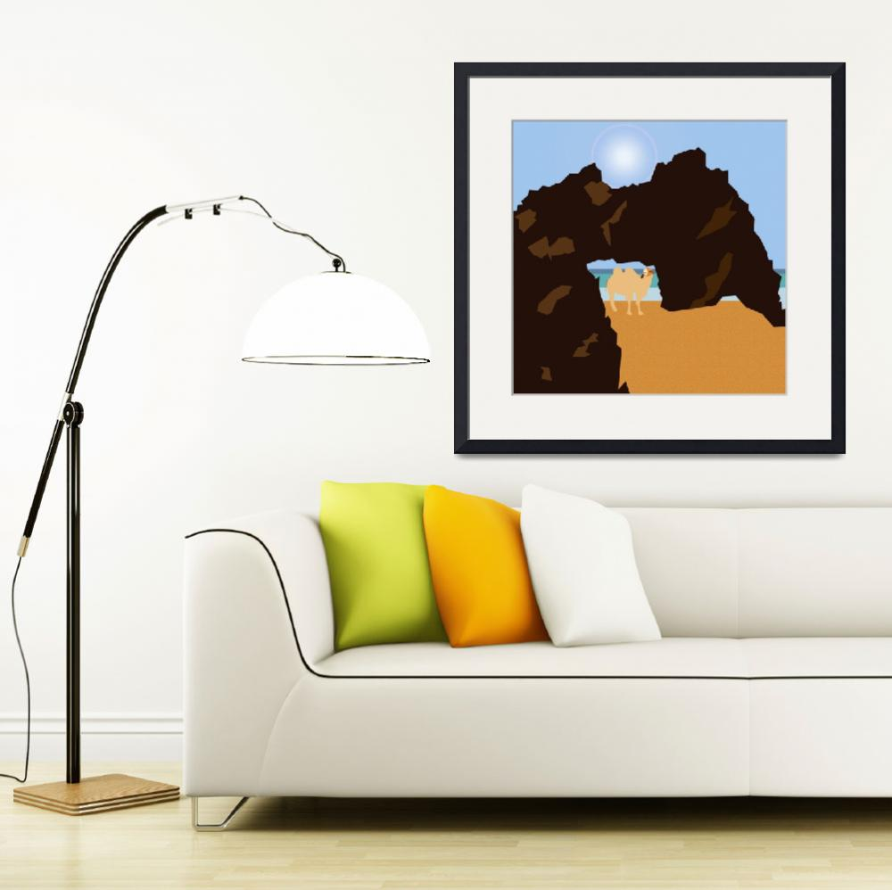 """""""A camel on the beach""""  by Design4uStudio"""