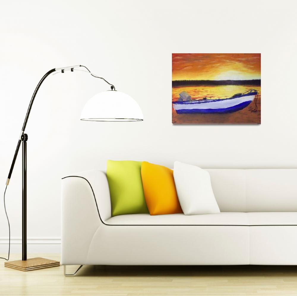"""Sunrise on Pierce Lake""  (2008) by JSutherland"