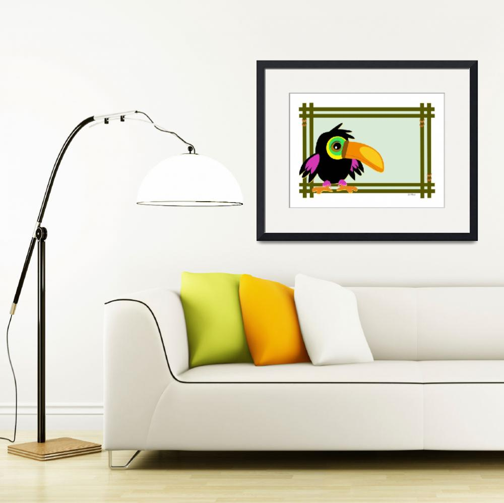 """""""Baby Toucan in a Wooden Frame""""  (2011) by theblueplanet"""