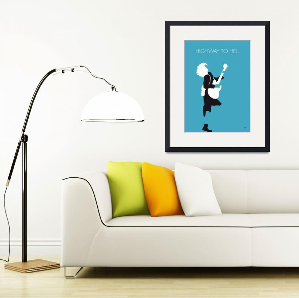 """""""No065 MY ACDC Minimal Music poster&quot  by Chungkong"""