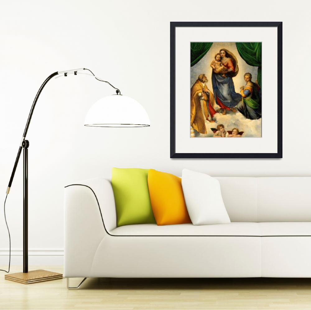 """""""Sistine Madonna Virgin Mary and Child Jesus Art&quot  (1910) by Maggy"""