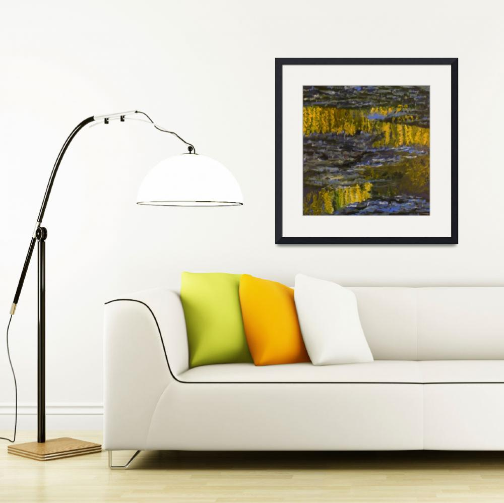 """""""Monet inspired reflections of Weeping Willow on wa&quot  (2011) by Pfister"""